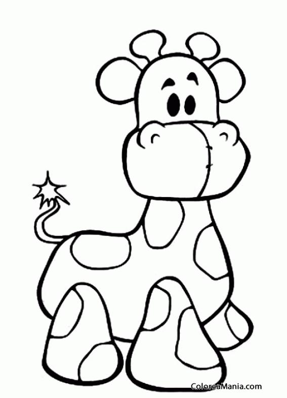 Colorear Jirafa de peluche (Peluches), dibujo para colorear gratis