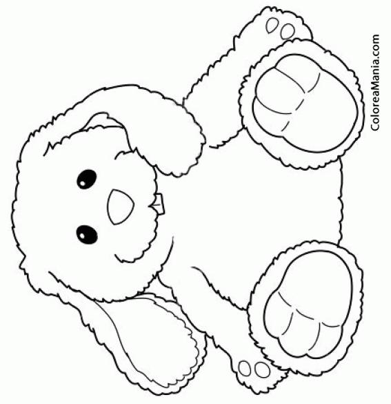 Colorear Conejo peluche, Bunny (Peluches), dibujo para colorear gratis