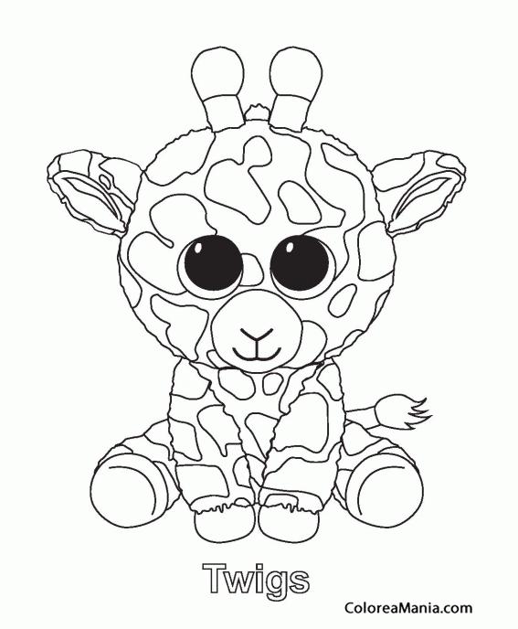 Colorear Twigs, la jirafa (Peluches), dibujo para colorear gratis