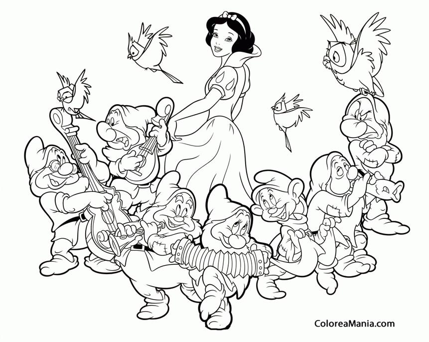 Colorear Blancanieves y los siete enanitos (Blancanieves ...