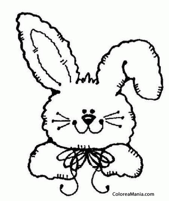 Conejo Orejon Para Colorear Dibujo de Conejo vestido para Colorear ...
