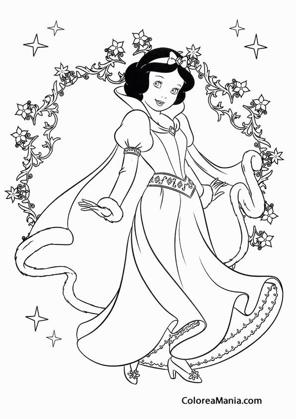Colorear Blancanieves Feliz Blancanieves Dibujo Para