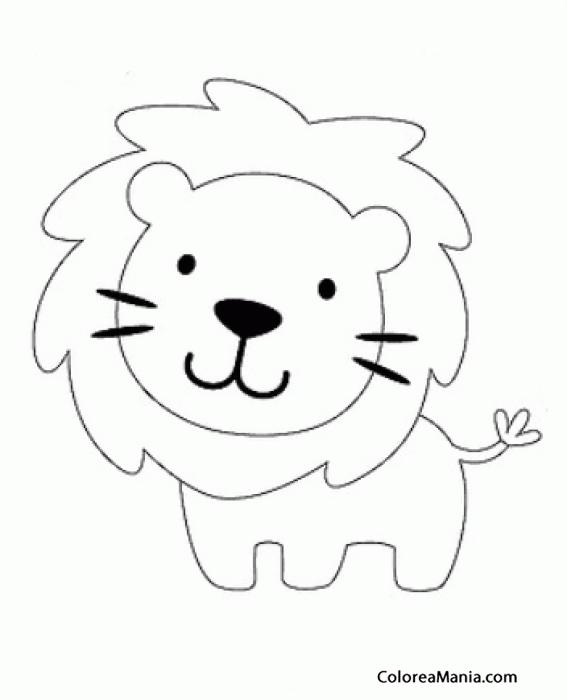 Colorear León 3 (Animalitos), dibujo para colorear gratis
