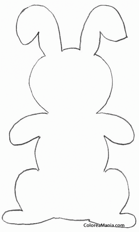 Colorear silueta conejo animalitos dibujo para colorear - Siluetas para imprimir ...