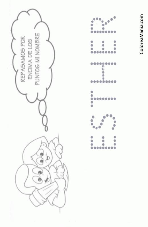 Colorear Escribo mi nombre: Esther (Reseguir tu nombre), dibujo para ...