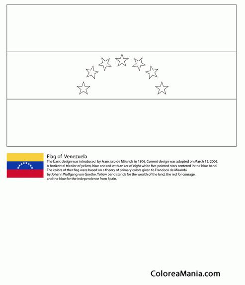 Colorear Venezuela Banderas De Paises Dibujo Para
