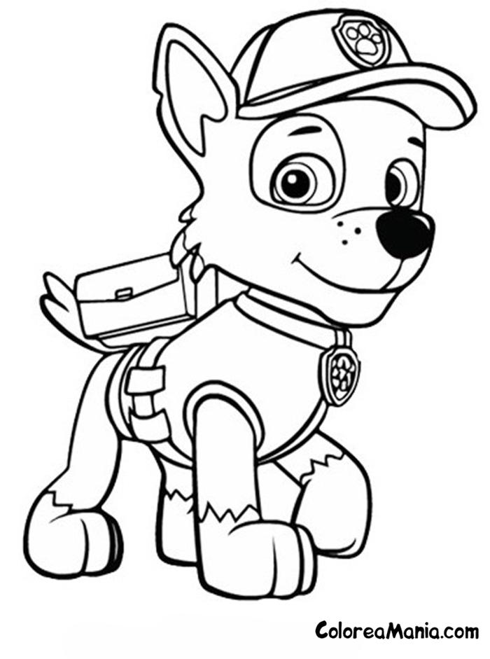 Colorear Rocky Patrulla Canina Dibujo Para Colorear Gratis