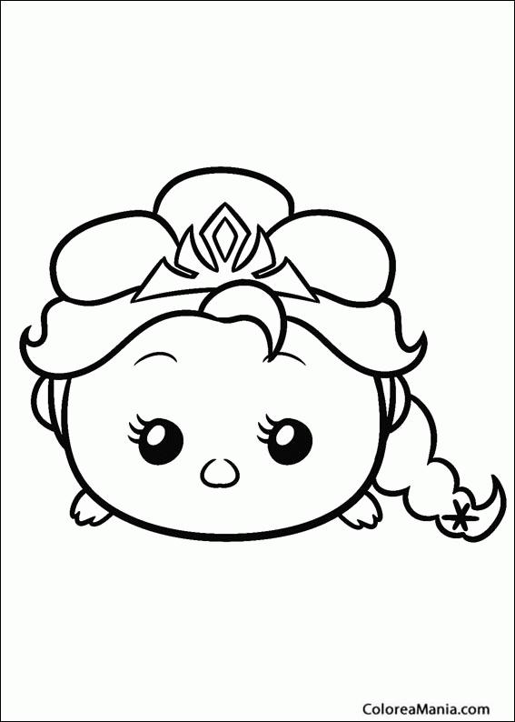 Colorear Frozen Tsum Tsum Tsum Tsum Dibujo Para Colorear Gratis