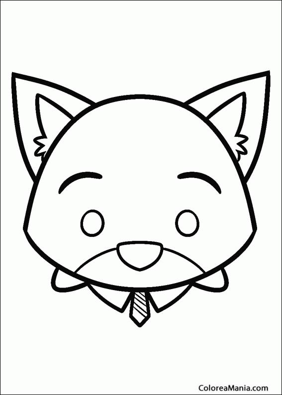 Colorear Tsum Tsum Zootopia Tsum Tsum dibujo para colorear gratis