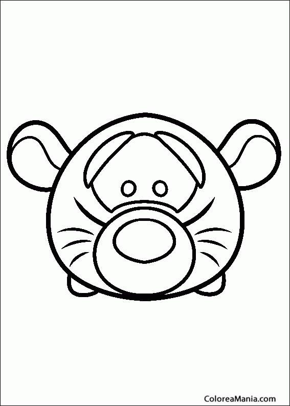 Colorear Tsum Tsum Tigger Tsum Tsum Dibujo Para