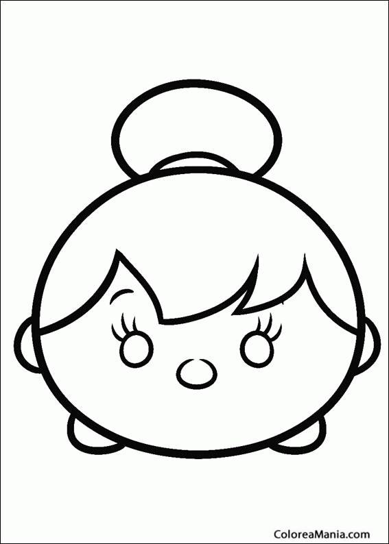 Colorear Tsum Tsum Cenicienta (Tsum, Tsum), dibujo para colorear gratis