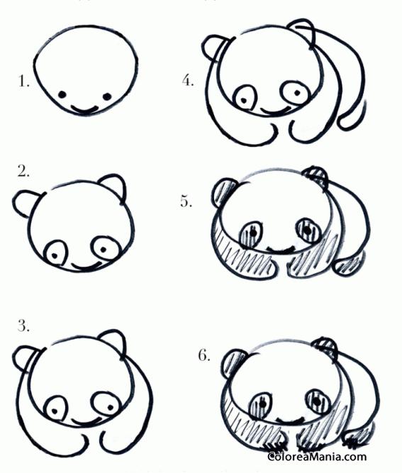 Colorear Un Oso Panda 2 Como Dibujar Animales Dibujo Para