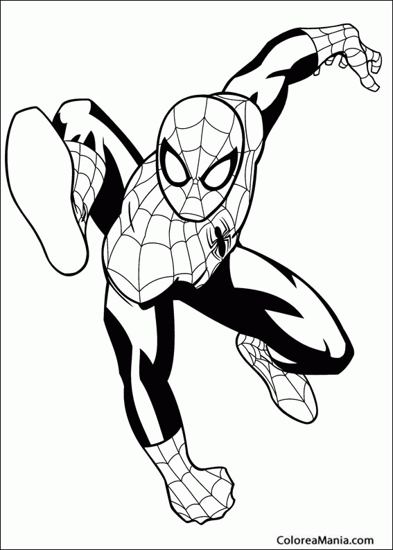 Colorear Ultimate SpiderMan Spiderman dibujo para colorear gratis