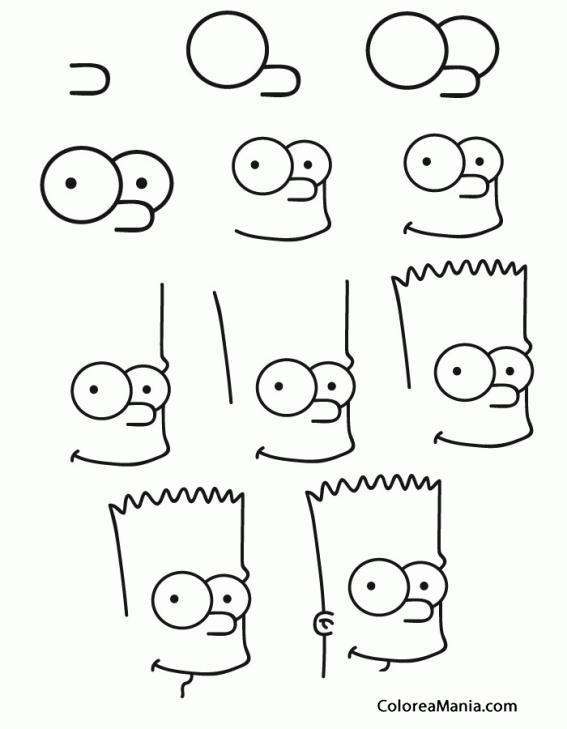 Colorear Cómo Dibujar A Bart Simpson Cómo Dibujar Personajes