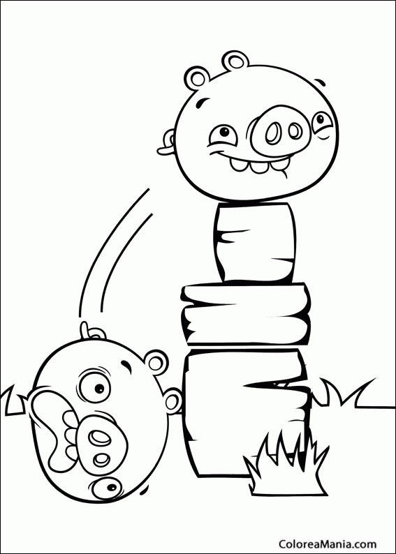 Colorear Angry Birds Cerditos Angry Birds Dibujo Para Colorear Gratis