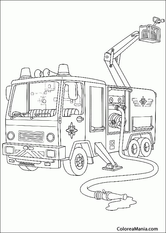 Colorear Camión Sam El Bombero (Sam el Bombero), dibujo para ...