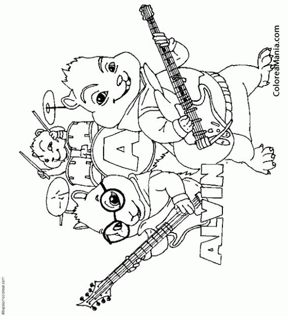 Colorear Alvin Y Las Ardillas En Plena Actuación Alvin Y Las