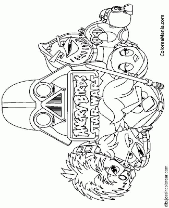 Colorear Angry Birds Starwars Angry Birds Dibujo Para