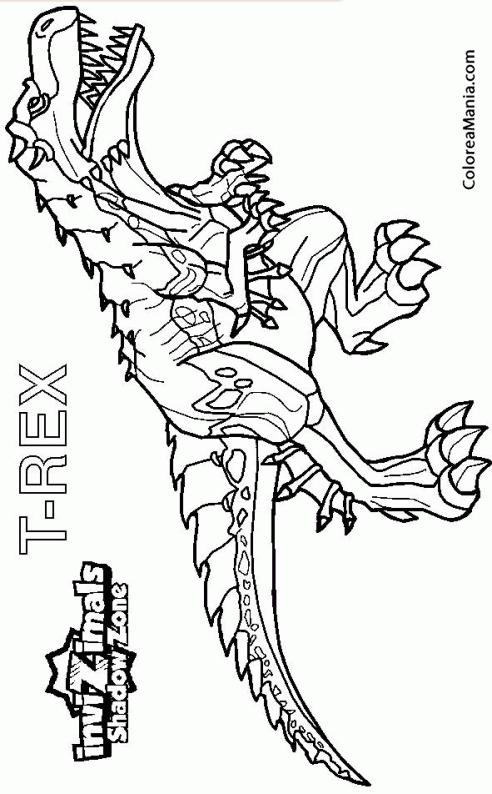 Dibujos Para Colorear Dinosaurios Tiranosaurio Rex ~ Ideas Creativas ...