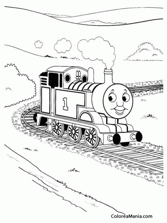 Colorear El Tren Thomas Thomas Y Sus Amigos Dibujo Para