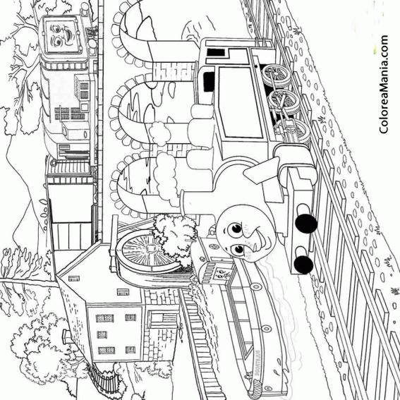 Colorear Thomas En La Ciudad Thomas Y Sus Amigos Dibujo