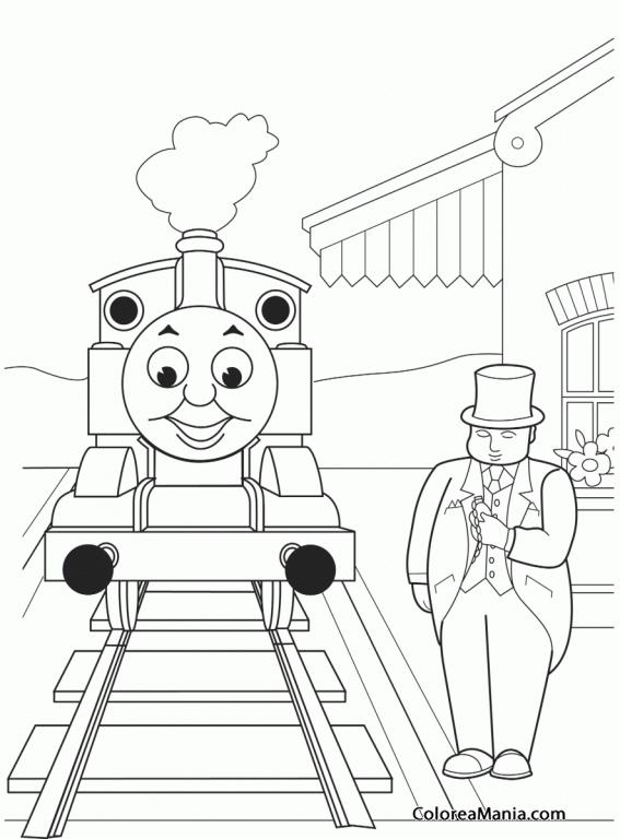 Colorear El Tren Thomas 2 Thomas Y Sus Amigos Dibujo Para