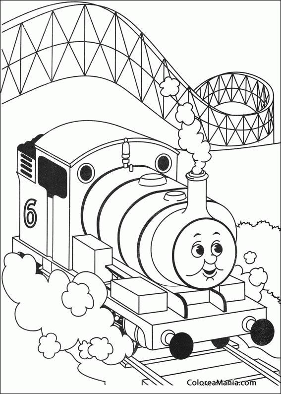 Colorear El Tren Thomas 3 Thomas Y Sus Amigos Dibujo Para
