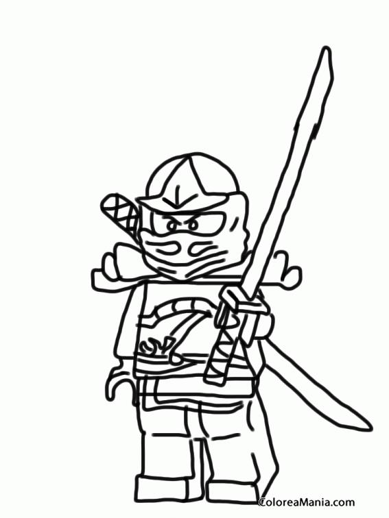 Colorear Lego Ninjago 6 (Ninjago), dibujo para colorear gratis