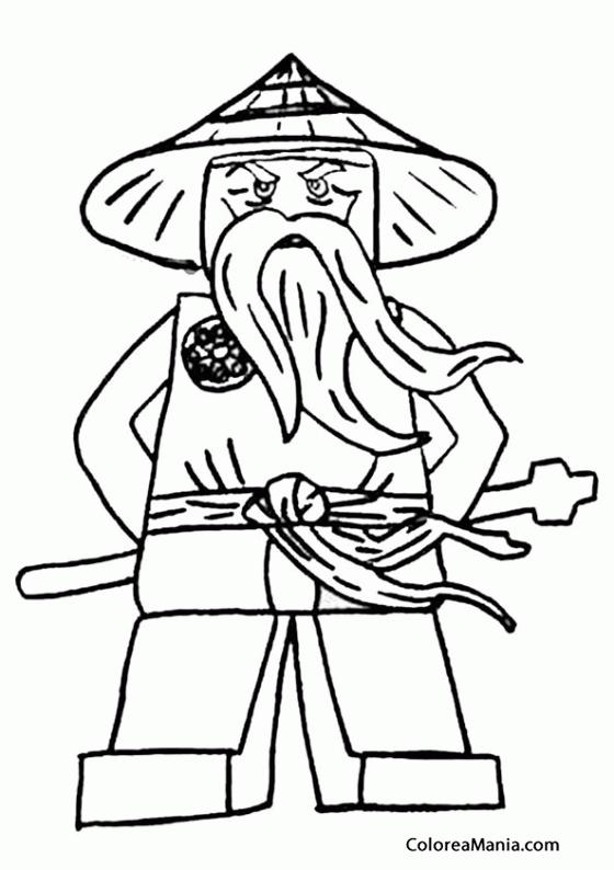 Colorear Sensei Wu (Ninjago), dibujo para colorear gratis