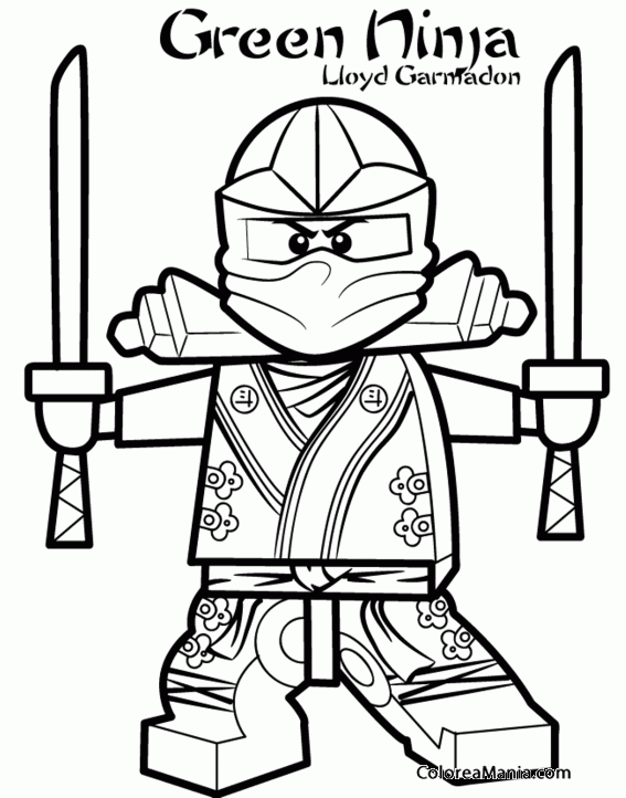 Colorear Lloyd Garmadon Ninjago dibujo para colorear gratis
