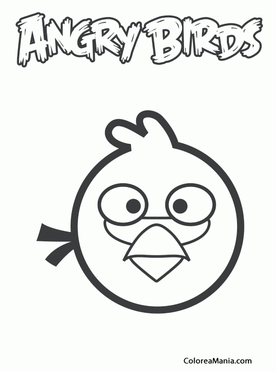 Colorear Blue P 225 Jaro Azul De Frente Angry Birds Dibujo
