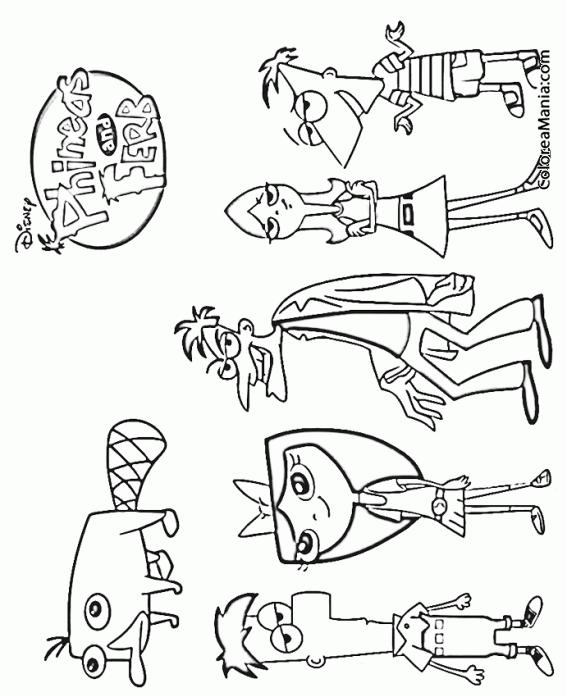 Colorear Personajes de la serie (Phineas y Ferb), dibujo para ...
