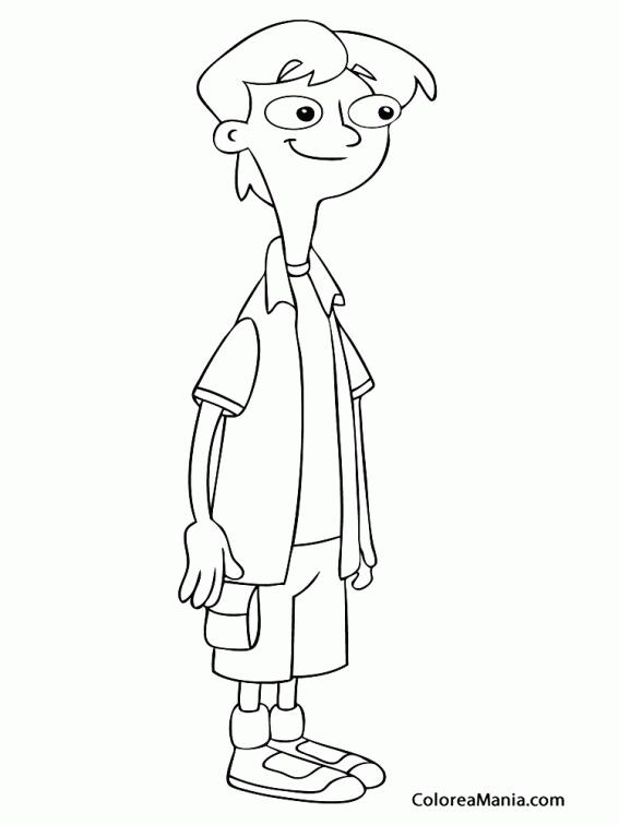Colorear Un amigo de Candace (Phineas y Ferb), dibujo para colorear ...