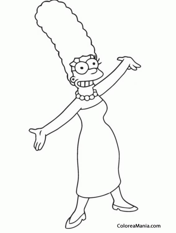 Colorear Marge Simpson 2 Los Simpsons Dibujo Para