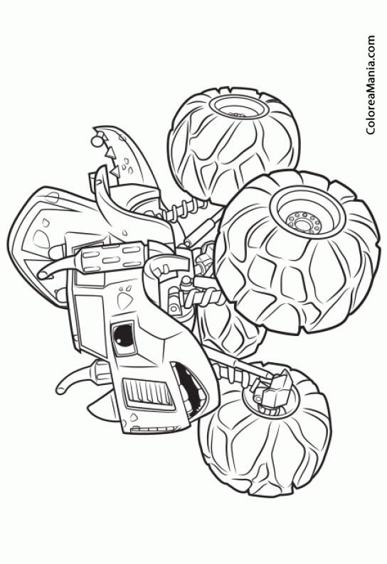 Colorear zeg blaze y los monster machines dibujo para for Blaze da colorare