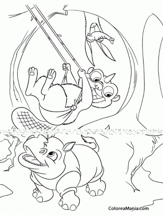 Colorear Juegos Del árbol Ice Age Dibujo Para Colorear Gratis