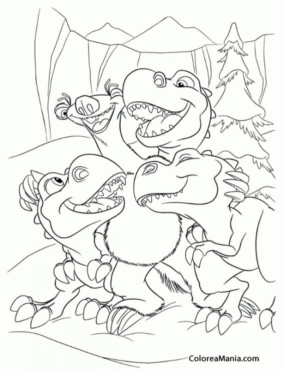Colorear Sid es un gran profesor (Ice Age), dibujo para colorear gratis
