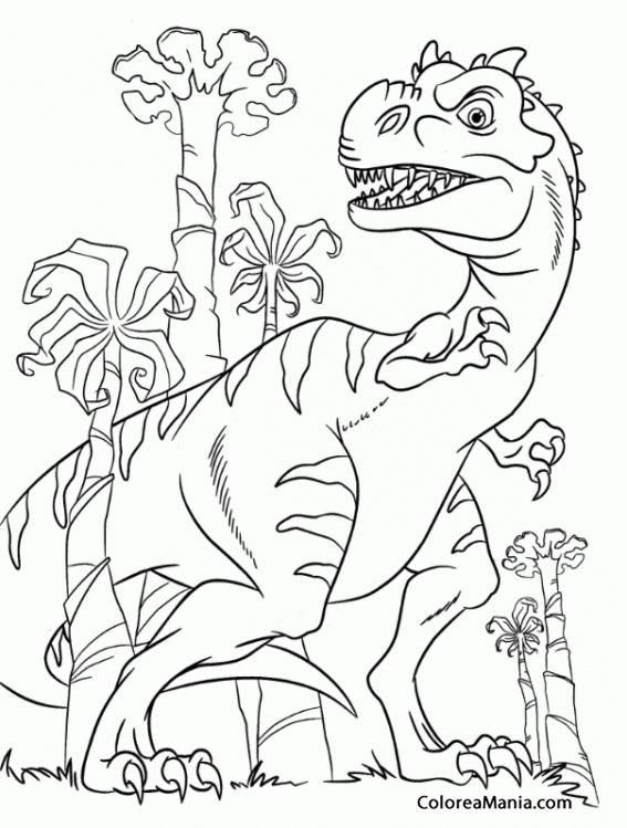 Colorear Mamá Tiranosaurio Rex Ice Age Dibujo Para