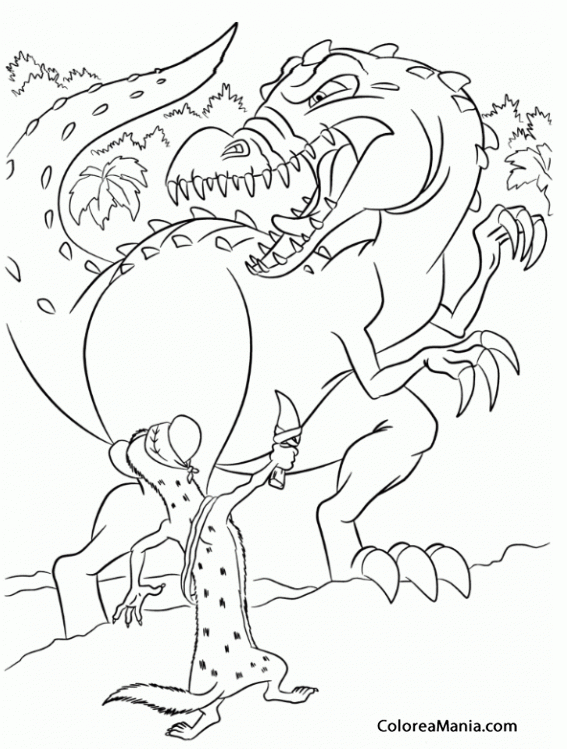 Ice Age 3 Rudy Coloring Pages