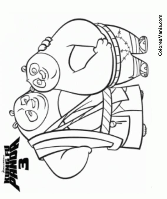Colorear Kung Fu Panda 3 (Kung Fu Panda), dibujo para colorear gratis
