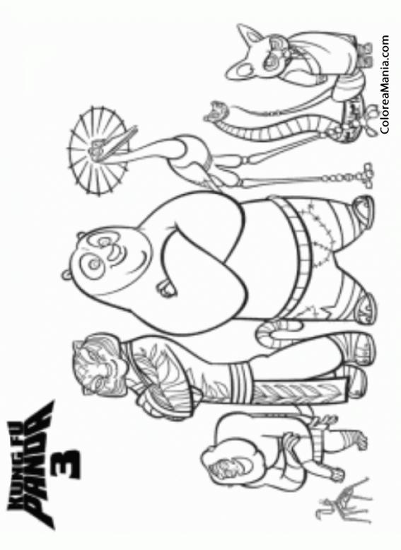 Colorear Kung Fu Panda 3 2 (Kung Fu Panda), dibujo para colorear gratis