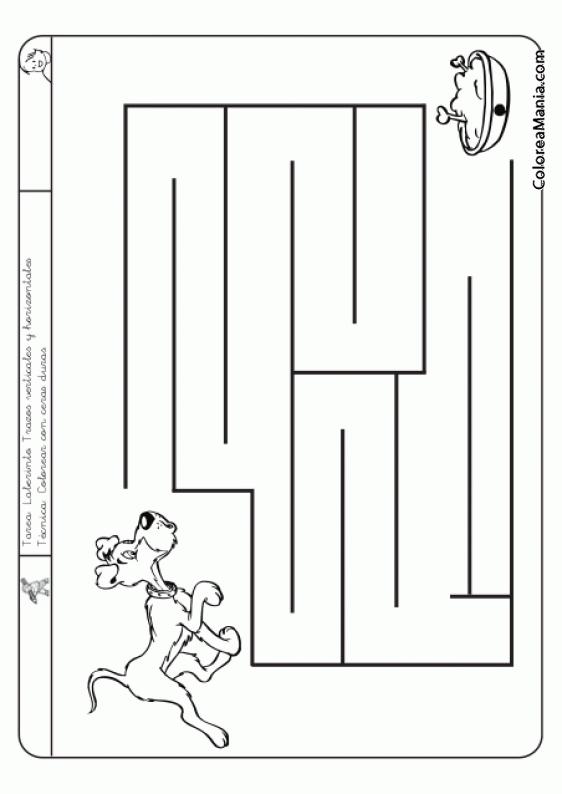 Colorear Laberinto Verticales Y Horizontales Nivel A Facil