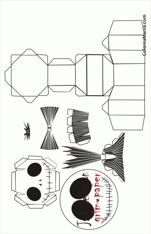 Colorear Jack Skellington Caja Halloween Dibujo Para Colorear Gratis