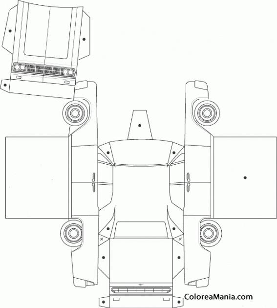 Colorear Coche recortable (Geométricos), dibujo para colorear gratis