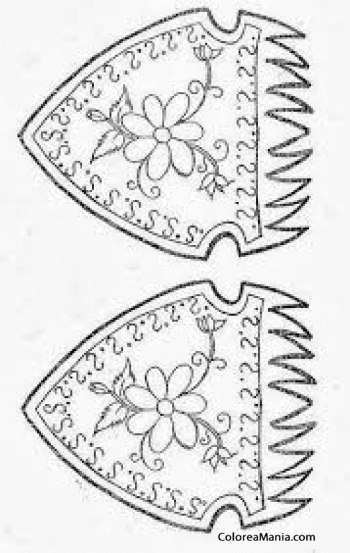 Colorear Peineta Fallas de Valencia (Fallas), dibujo para colorear