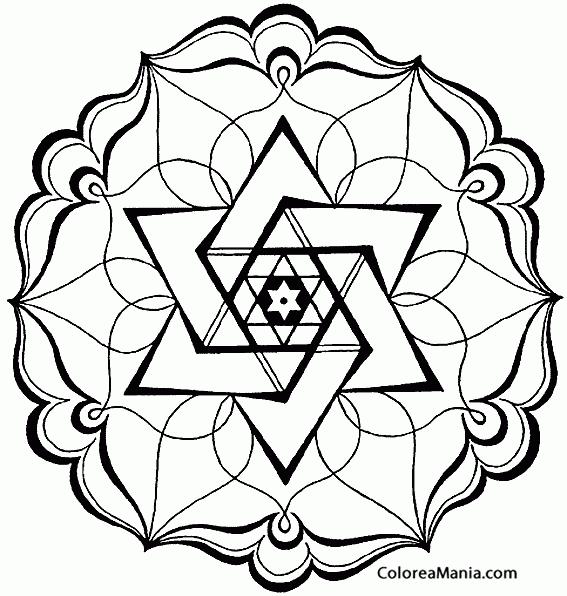 Colorear Mandala abstracto (Mandalas), dibujo para colorear gratis