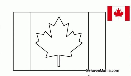 Colorear Canadá Banderas De Paises Dibujo Para Colorear