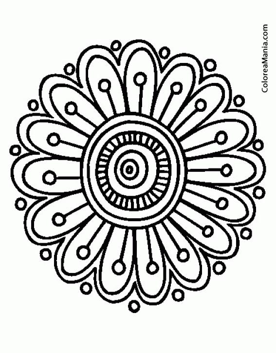 Colorear Mandala Margarita Mandalas Dibujo Para Colorear