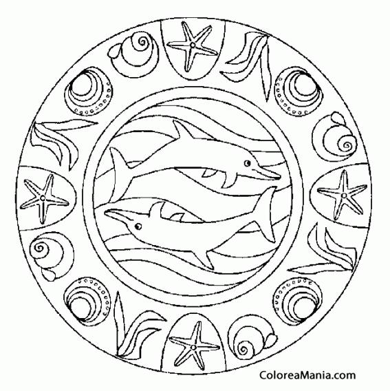 Colorear Mandala Delfines Mandalas Dibujo Para Colorear Gratis