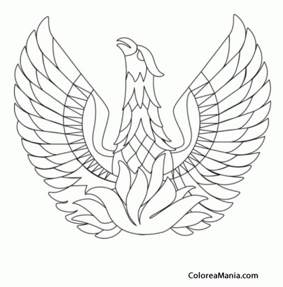 Colorear Ave Fénix 3 (Animales Fantásticos), dibujo para colorear gratis